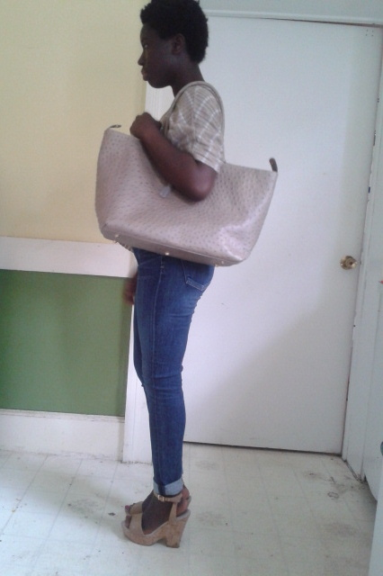 Big bag; Small girl