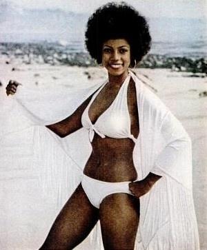 black woman white bathing suit