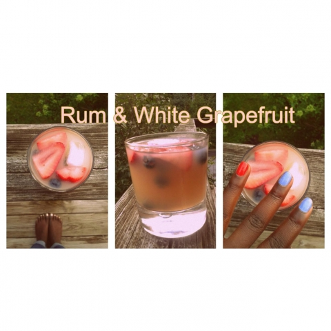 rum and white grapefruit