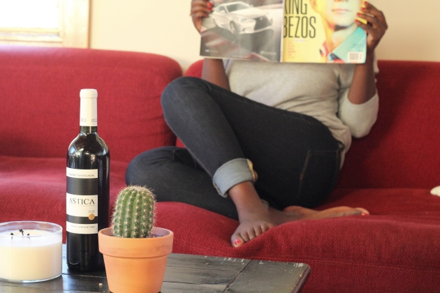 Fast Company Magazine; Hector; a bottle of Cab. I live a wild life.