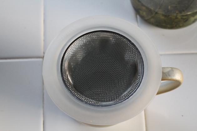 This is actually a mesh drain strainer I got for $1.50. Make sure everyone knows it's just for tea and all will be ick-free.