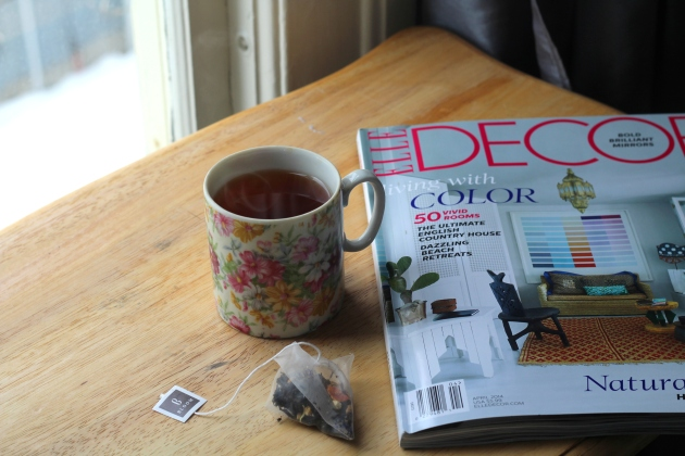 Elle Decor and Tea