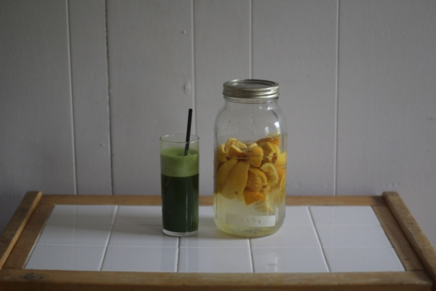 green juice and DIY cleaner